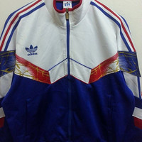 Vintage 1980s ADIDAS Decente Warm Up Trainee Run Dmc Hip Hop Sweaters Rare