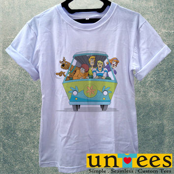 Low Price Women's Adult T-Shirt - Scooby Doo Mistery Machine design