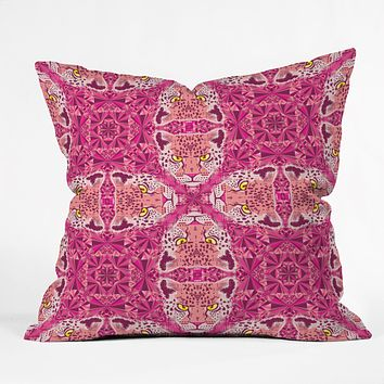 Chobopop Pink Panther Pattern Throw Pillow