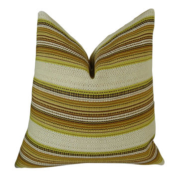 Plutus Camp Evergreen Seaweed Handmade Throw Pillow