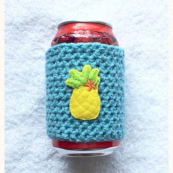 Pineapple Crochet Coffee Cozy, Pineapple Starbucks Travel Cup Mug, Can Cozy, Bottle Cozy, Crochet Cozy, Handemade Gifts, Crochet Coffee Cozy