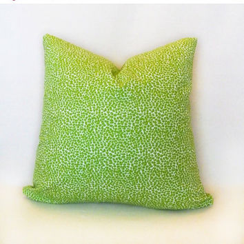 SampleSale Lime Leopard print pillow slipcover for girls room or baby nursery