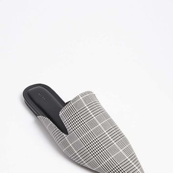 Glen Plaid Loafer Mules