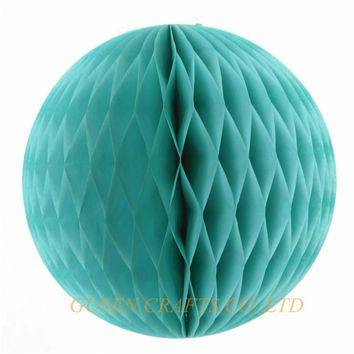 "2016 wedding decorations 5pcs/lot 6""(15cm) tissue paper blue honeycomb ball pastel bags decorations for party/baby shower"