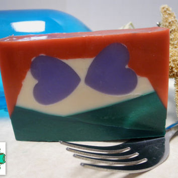 Limited Edition Ariel Inspired soap bar - Sale of the Day - Ready to ship, Shea Butter soap, Handmade soap, Disney soap