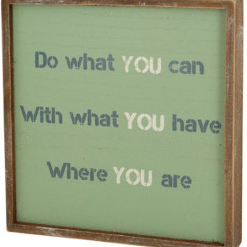 wood framed sign with inspirational saying Case of 4