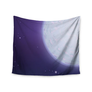 "Fotios Pavlopoulos ""Full Moon"" Night Sky Wall Tapestry"