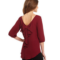 Soulmates 3/4-Sleeve Bow-Back Blouse | Dillard's Mobile