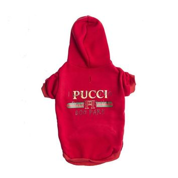Pucci Dog Park Hoodie | Dog Clothing