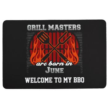 Grill Masters Are Born In June Personalized Floor Mat