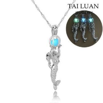 Glow in the Dark Charm Mermaid Necklace