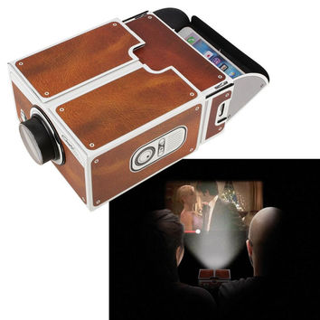 DIY Cardboard Smartphone Projector Mobile Phone Projector DIY Mobile Phone Cinema Portable Cinema Home For iOS SAMSUNG HUAWEi