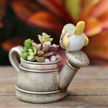 Gardening Mini Flowerpot Succulent Planters Pot Micro Landscape Decorative Flower Sprinkler For Home Garden Decoration
