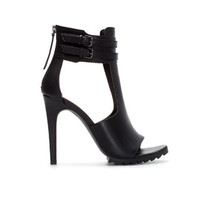 HIGH HEEL T - BAR SANDAL WITH BUCKLED ANKLE STRAP - Shoes - TRF | ZARA United States