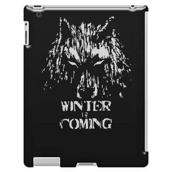game of thrones direwolf winter is coming iPad 3 and 4 Case