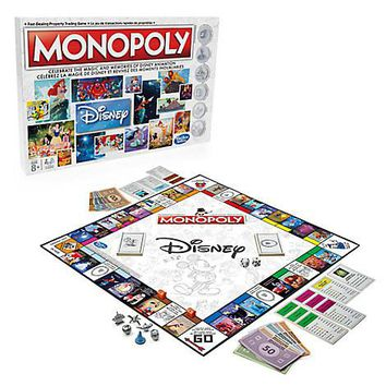 Disney Animation Monopoly Game Gameboard Six tokens New Sealed
