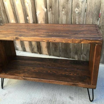 The honey box , console table , entertainment center, media stand, reclaimed wood, craft furniture,