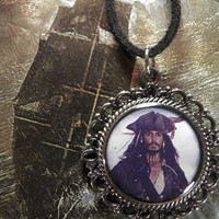 Jack Sparrow Necklace Johnny Depp Pirates of by RobinInWonderland