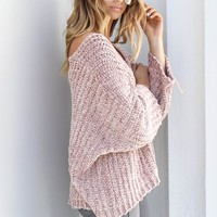 Soft Side Canyon Rose Chenille Pullover Sweater
