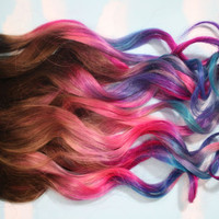 Backorder Dip Dyed Hair Clip In Hair Extensions by Cloud9Jewels