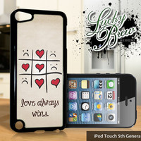 NEW iPod Touch 5 Case - Love Always Wins Cute - 5 Gen Cover GEN5