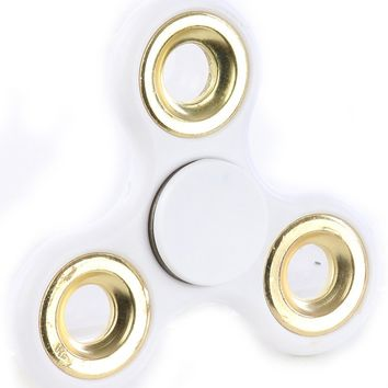 White Solid Colored Fidget Spinner General Merchandise