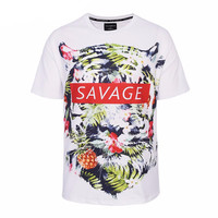 Savage Tiger T-Shirt Print