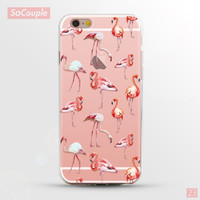 Flamingo Painted Ultrathin Soft TPU Transparent Back Case Cover Shell for iPhone 5 5s SE 6 6s 6 Plus 6s Plus 7