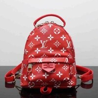 Louis Vuitton Fashion Women Shoulder Bag Bookbag Backpack Daypack Red I
