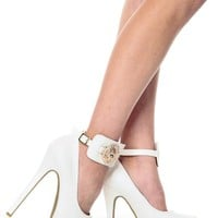 Lion Queen in White Plated Platform Pumps @ Cicihot Heel Shoes online store sales:Stiletto Heel Shoes,High Heel Pumps,Womens High Heel Shoes,Prom Shoes,Summer Shoes,Spring Shoes,Spool Heel,Womens Dress Shoes