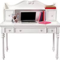 Disney Princess White Desk w Vanity Mirror & Hutch
