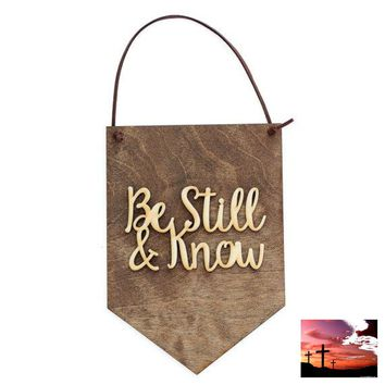 Be Still and Know, Religious Quotes, Home Decor, Wood Signs, Wall Hanging, Religious Gifts, God Quotes, Christian Quotes, Gift Idea