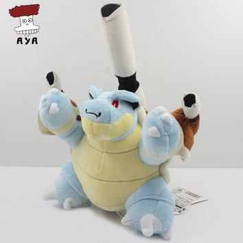 "Pokemon Plush Toys 7"" 17cm Mega Evolution Blastoise Kawaii Soft Stuffed Plush Doll Kids Toys Christmas Gift For Children"