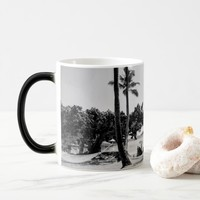 Black and White Tropical Sunny Beach 11oz Mug