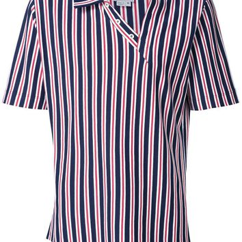 Navy and Red Stripe Polo Shirt