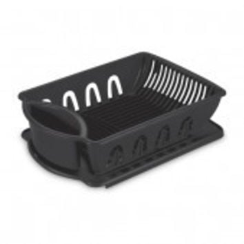 Sterlite Medium Size Sink Dish Rack Drainer (Black)