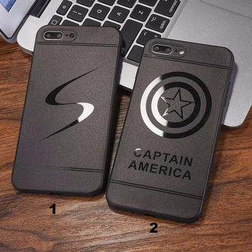 Fashion captain S mobile phone case for iPhone X 7 7plus 8 8plus iPhone6 6s plus -171211