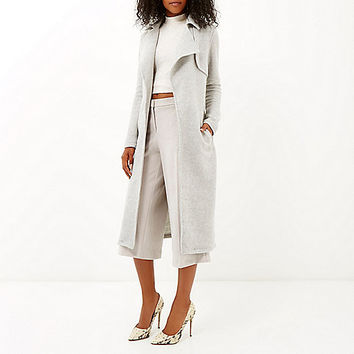 Light grey longline trench coat - trench coats - coats / jackets - women
