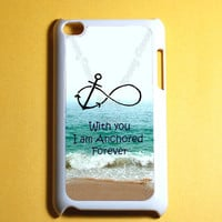 Ipod Touch 4 Case -  Forever Anchor infinity Ipod 4G Touch Case, 4th Gen Ipod Touch Cases
