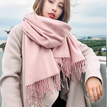 Brand women scarf High quality soild autumn winter cashmere scarves lady warmer pashmina long shawl wraps bandana foulard female