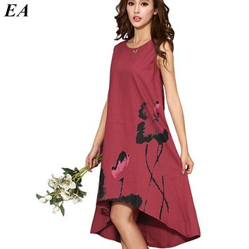 02a46fd27eae Women Long beautiful summer dresses Sleeveless chiffon dress fes