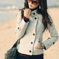 Gray Fashion Coat