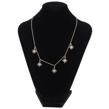Simple Star Shape Choker Necklaces for Women Metal Stars Pendant Fashion Jewlery Necklace
