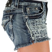 Miss Me Frayed Stretch Short