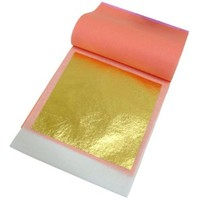 """Edible Gold Leaf, 23k. Pack of 25-3-3/8"""" square sheets"""