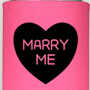 Marry Me coozie, will you marry me, be mine coozie, engagement coozies, engagement party coozies, coozieshop360, proposal coozie, fun gifts