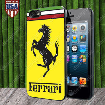Ferrari Logo case for iPhone 5, 5S, 4, 4S and Samsung Galaxy S3, S4