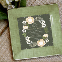 As seen in Country Living / Wedding Invitation Plate / Keepsake / Couples Gift / Customized wedding / Personalized / Unique wedding ideas