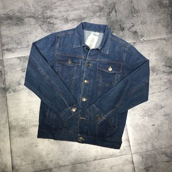 KENZO winter Embroidered denim jacket S-XL