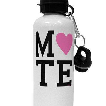 Matching Soulmate Design - Mate - Pink Aluminum 600ml Water Bottle by TooLoud